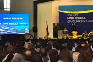 Mr. John Phillip P. Sevilla—Guest Speaker for the Graduation Ceremonies of XS Class of 2019