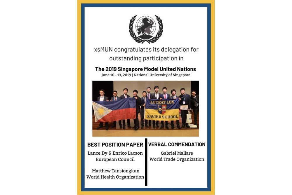 You are currently viewing XSMUN Delegates Display Excellence at Singapore Model United Nations
