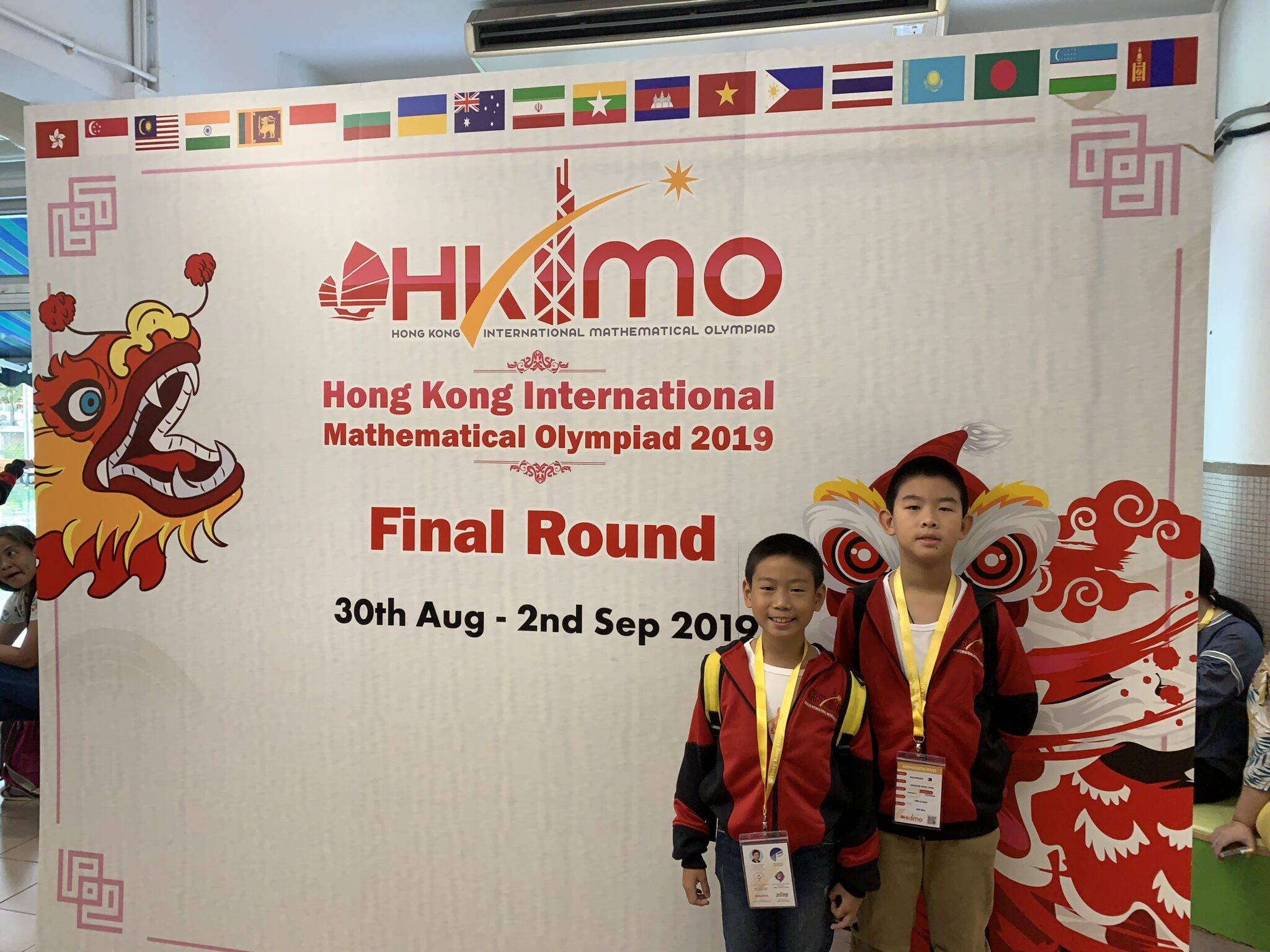 Two Fourth Graders Brought Home Silver Medals from the 2019 HKIMO Int'l Round