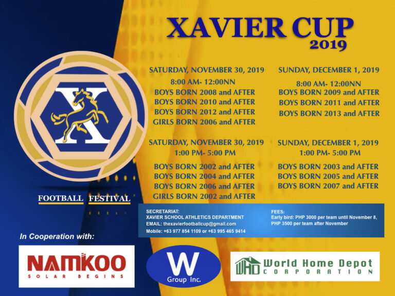 Xavier Cup Poster Categories