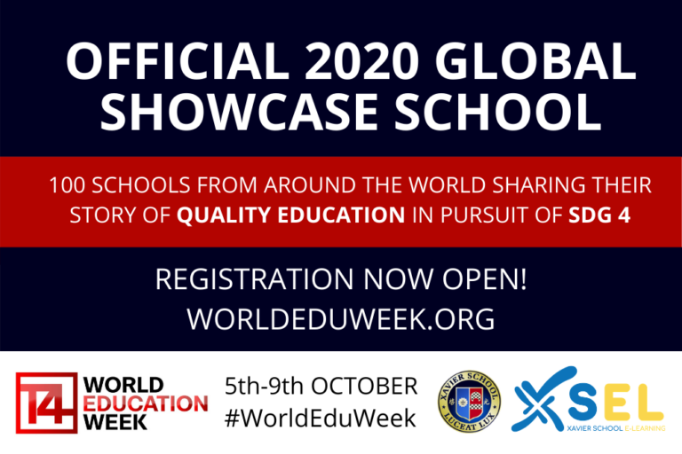 Xavier School One of Two Schools in the Philippines to Join World Education Week, Oct. 5-9, 2020