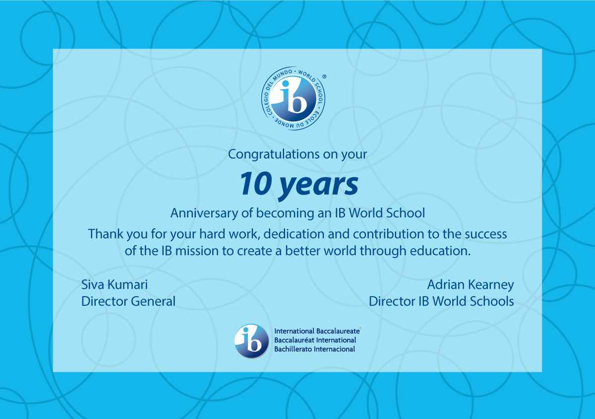 Xavier School Celebrates 10 Years as an International Baccalaureate World School