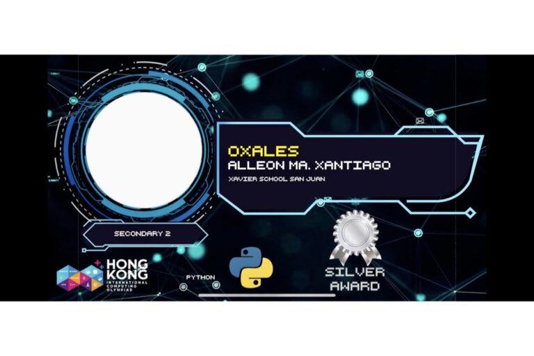 Xaverian Wins Silver Medal at HKICO 2021