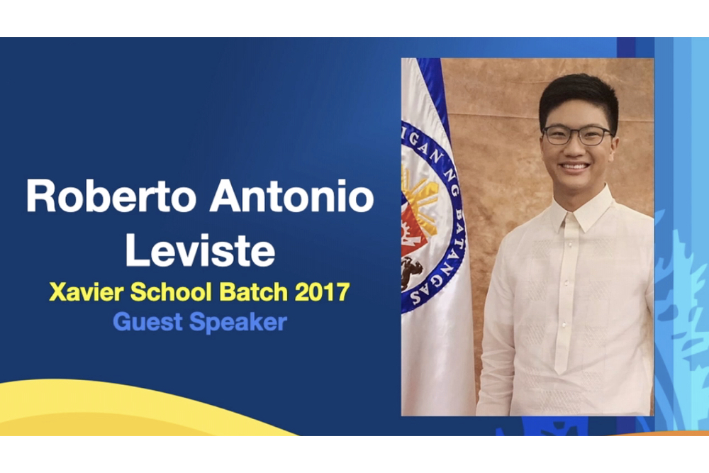 """You are currently viewing """"Strive not for success but strive for significance""""—Roberto Antonio """"Ronin"""" S. Leviste (XS '17) delivers inspirational speech at HS Reading of Honors 2021"""