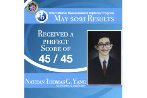 Read more about the article Nathan Thomas Yang (XS '21) Receives a Perfect IB Score